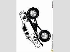 Coloriage monster truck usa sur Hugolescargot.com