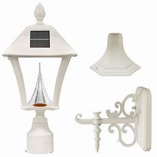 shop gama sonic baytown in h white solar led light at lowes com