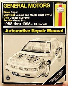 free service manuals online 1994 chevrolet lumina user handbook 1988 1994 1995 chevy monte carlo pontiac grand prix buick regal repair manual 1563921391 ebay
