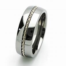 men 8mm comfort fit tungsten carbide wedding band braided silver inlay ring ebay