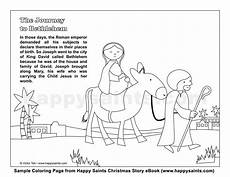 happy saints journey to bethlehem coloring page
