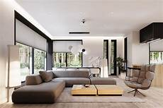 contemporary house design with indoor plants display and