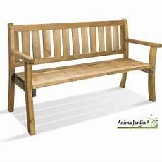 petit banc exterieur banc en bois avec dossier 150 cm philadelphia achat vente