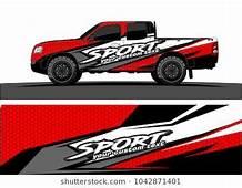 Truck Graphic Background Kit Vector  Design Trucks