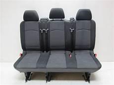 Vito Viano Beifahrer Doppelsitzbank Lima Schwarz W639