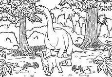 two diplodocus dinosaurs coloring pages