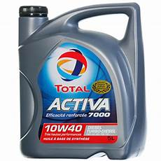 huile activa 7000 10w40 diesel turbo diesel tous les
