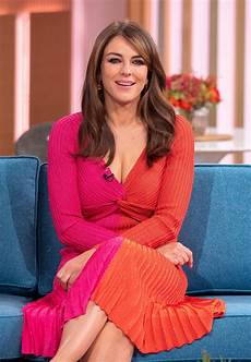 elizabeth hurley at this morning tv show london