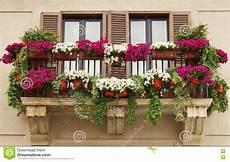 vasi da balcone vasi da fiori sul balcone di vecchia costruzione