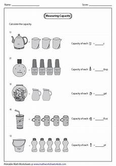 unitary method customary units with images capacity worksheets measurement worksheets 3rd