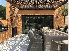 Custom Design, All Weather, Rooftop Pergola   Titan Cut