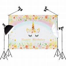 5x3ft 7x5ft Rainbow Gold Unicorn Photography by Backdrops 5x3ft 7x5ft Rainbow Sky Gold Unicorn