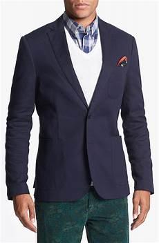scotch soda blazer and vest in blue for navy lyst