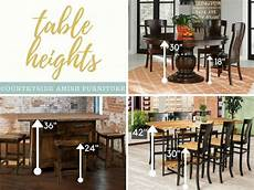 standard height counter height and bar height tables standard height vs counter height vs bar height amish