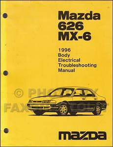 online auto repair manual 1996 mazda b series plus instrument cluster 1996 mazda 626 abd mx 6 body electrical troubleshooting manual original
