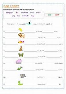 animals abilities worksheets 13782 animal abilities can and can 180 t esl worksheet by muppet007