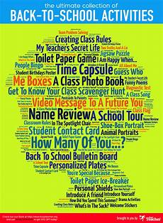 the ultimate collection of back to school activities poster