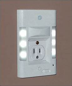 wall socket safety light installed in place of your existing double outlet wall faceplate