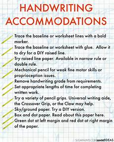 occupational therapy handwriting worksheets for adults 21876 handwriting accommodations for the classroom the ot toolbox