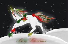 merry christmas unicorn by xdarklightning