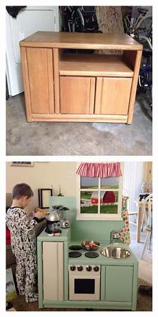play kitchen from furniture diy play kitchen from entertainment center