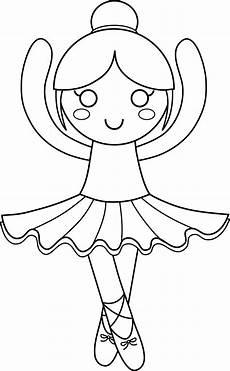 ballerina coloring page free clip