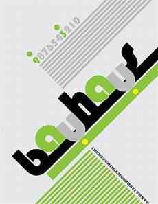 bauhaus font poster on behance