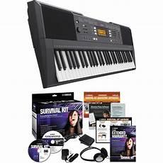 yamaha survival kit yamaha psr e343 portable keyboard with survival kit psre343 kit
