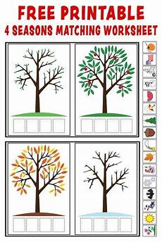 4 seasons worksheets for kindergarten 14892 quot season match up quot printable 4 seasons matching worksheet seasons kindergarten seasons