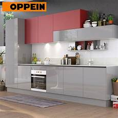 china 360cm width standard red and grey high gloss kitchen