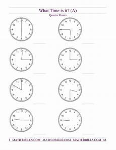 telling time worksheets quarter and half hour 2921 telling time on analog clocks quarter hour intervals a measurement worksheet