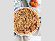 peach cream crumble pie image