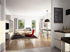 offenes wohn esszimmer modern mit bodentiefen fenstern