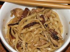 the neon celery kitchen udon shiitake stir fry with sake and