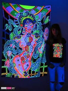 chakra girl psychedelic art uv black light tapestry wall hanging backdrop deco ebay