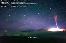 weltraum blitze bei gewitter 252 ber hawaii vulkan