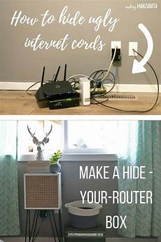 How To Hide Wires With A Mid Century Side Table