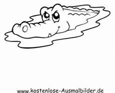 kostenlose ausmalbilder ausmalbild krokodil im wasser