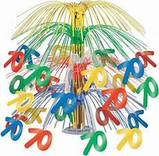 centre de table anniversaire 70 ans multicolore mister
