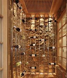 Cool Wine Racks Set Against A Backdrop Give This