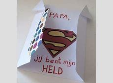 Knutselen voor kinderen: Vader is een held kaart