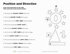 position and direction worksheet education com