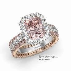 halo diamond engagement ring radiant pink diamond