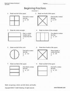 fraction worksheets beginner 3853 beginning fractions worksheet 1 worksheet for 3rd 5th grade lesson planet