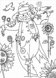scarecrow fall coloring pages coloring pages