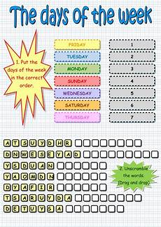 worksheets days of the week months of the year 18238 the days of the week interactive worksheet