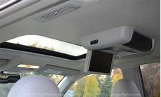 toyota highlander rear entertainment system the sunroof and rear entertainment console of the 2013