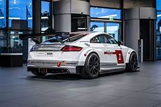 audi tt cup audi tt cup race car looks while on display carscoops