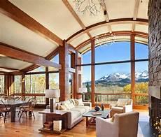 colorado mountain cabin perfectly frames views of wilson