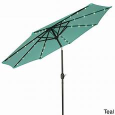 trademark innovations deluxe 9 foot solar powered led lighted patio umbrella patio patio